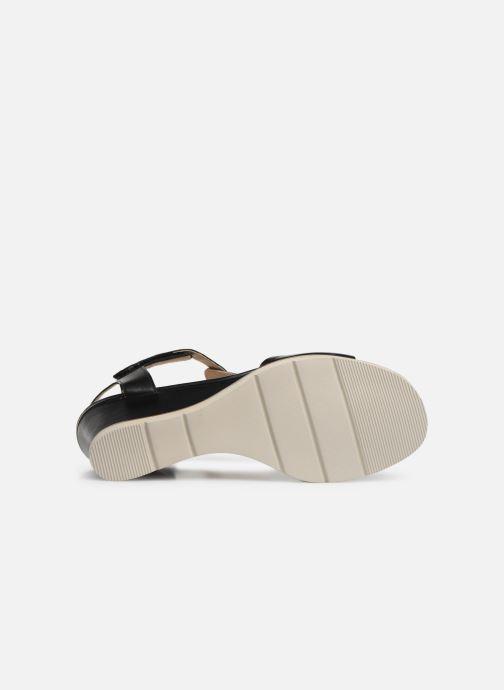Sandales et nu-pieds Georgia Rose Wattana soft Noir vue haut