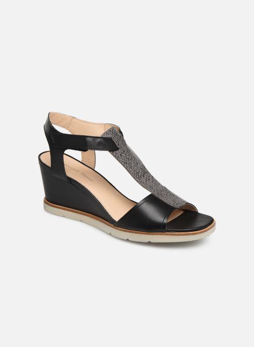 Sandales et nu-pieds Georgia Rose Wattana soft Noir vue détail/paire