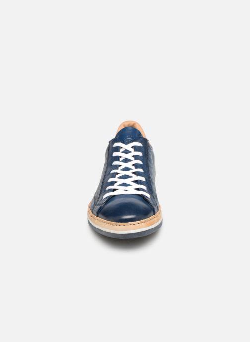 Baskets Giorgio1958 GARSINDO Bleu vue portées chaussures