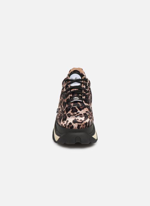 Baskets Buffalo 1337-14 Marron vue portées chaussures