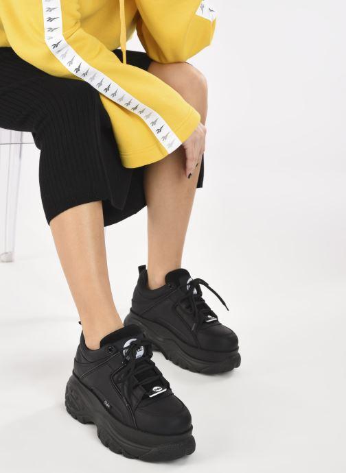 Sneaker Buffalo 1339-14 schwarz ansicht von unten / tasche getragen