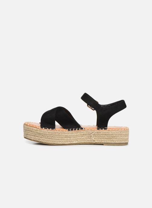 Alpargatas I Love Shoes Becroisa Negro vista de frente