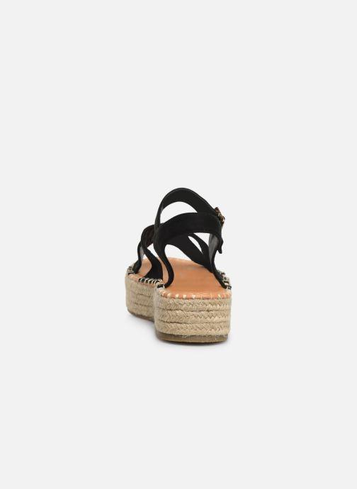 Alpargatas I Love Shoes Becroisa Negro vista lateral derecha