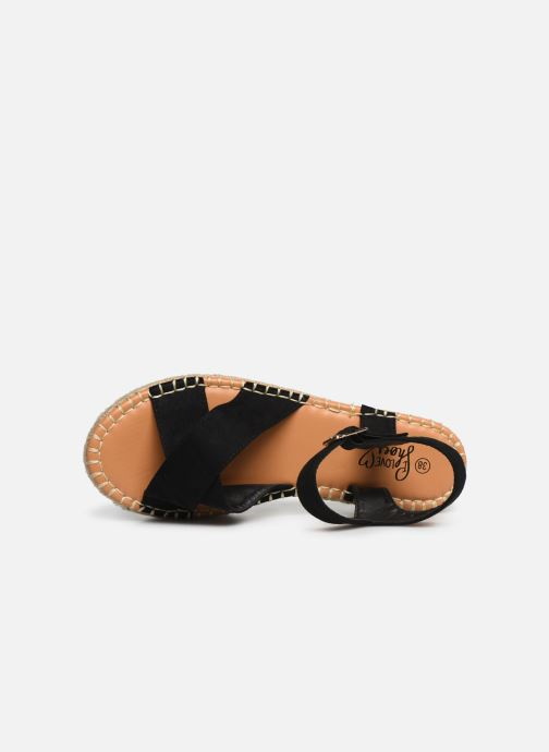 Alpargatas I Love Shoes Becroisa Negro vista lateral izquierda