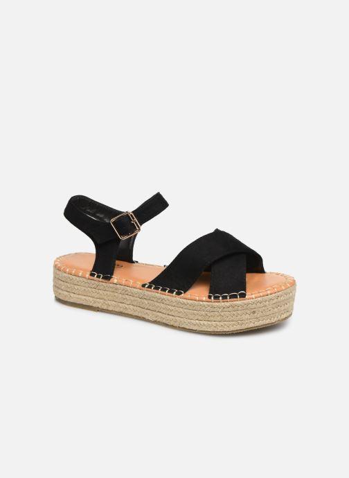 Alpargatas I Love Shoes Becroisa Negro vista de detalle / par