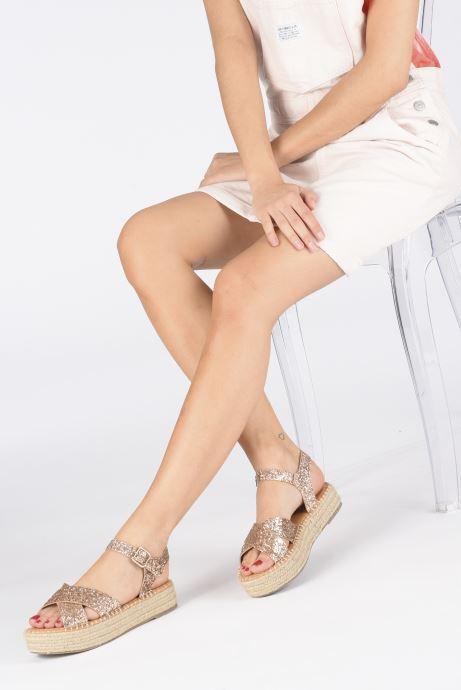 Scarpe di corda I Love Shoes Becroisa Rosa immagine dal basso