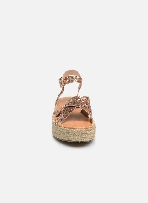 Espadrilles I Love Shoes Becroisa Rose vue portées chaussures