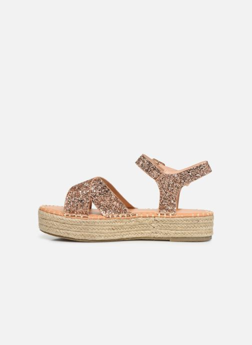 Espadrilles I Love Shoes Becroisa Rose vue face