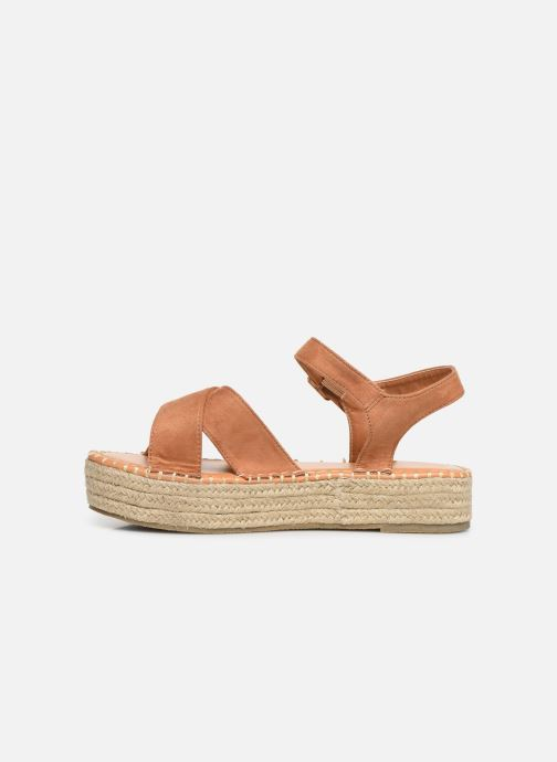 Alpargatas I Love Shoes Becroisa Marrón vista de frente