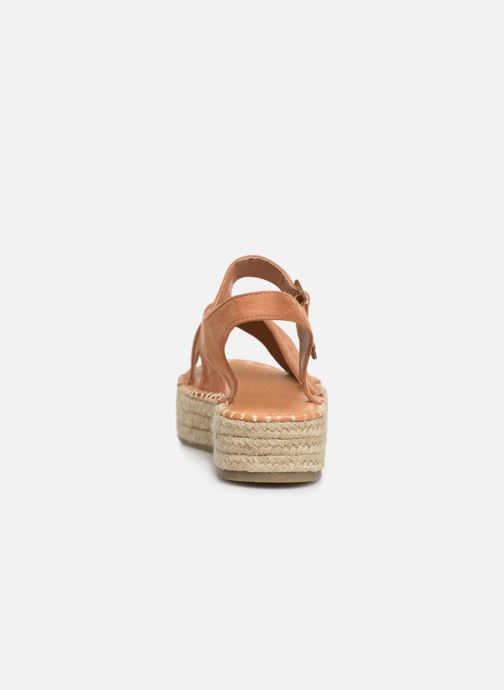 Alpargatas I Love Shoes Becroisa Marrón vista lateral derecha