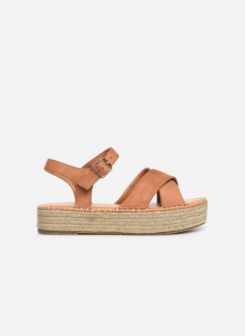 Alpargatas I Love Shoes Becroisa Marrón vistra trasera