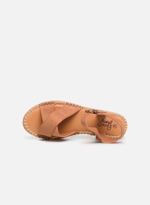 Alpargatas I Love Shoes Becroisa Marrón vista lateral izquierda