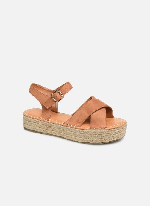 Alpargatas I Love Shoes Becroisa Marrón vista de detalle / par