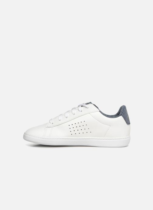 Baskets Le Coq Sportif Coustet Ps Laces Craft Blanc vue face
