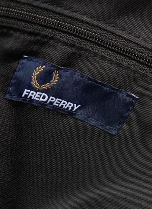 Sacs ordinateur Fred Perry TUMBLED PU SHOULDERBAG Noir vue derrière
