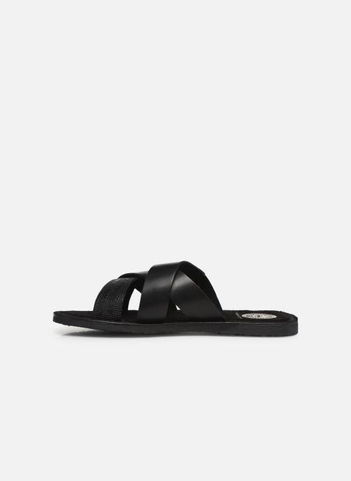Sandales et nu-pieds Base London CHARIOT Noir vue face