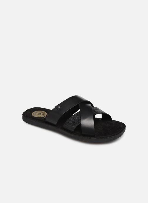 Sandales et nu-pieds Base London CHARIOT Noir vue détail/paire