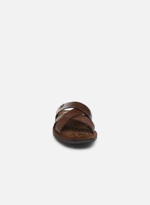 Sandales et nu-pieds Base London CHARIOT Marron vue portées chaussures