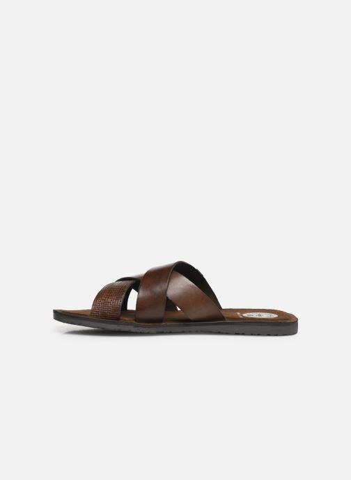 Sandales et nu-pieds Base London CHARIOT Marron vue face