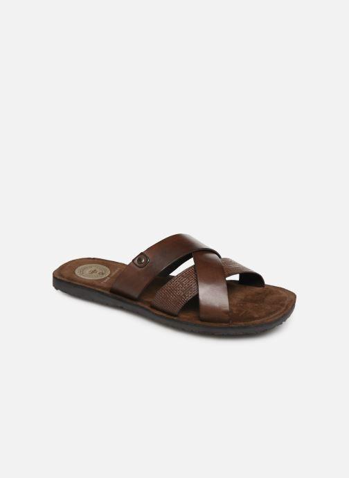 Sandales et nu-pieds Base London CHARIOT Marron vue détail/paire