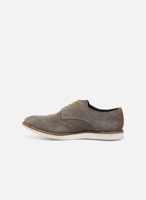 Chaussures à lacets Base London FELIX Gris vue face