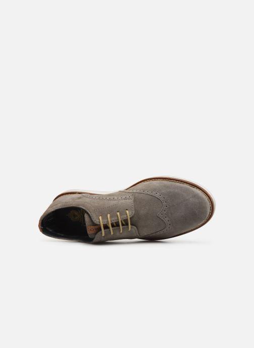 Zapatos con cordones Base London FELIX Gris vista lateral izquierda
