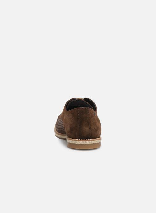 Chaussures à lacets Base London KINCH WEAVE Marron vue droite