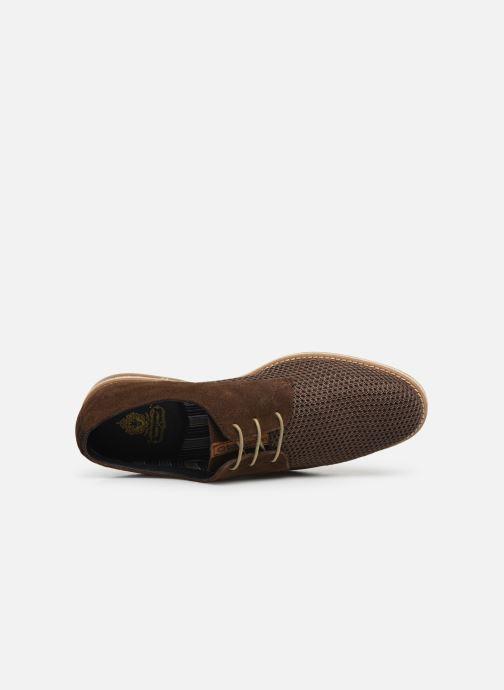 Scarpe con lacci Base London KINCH WEAVE Marrone immagine sinistra