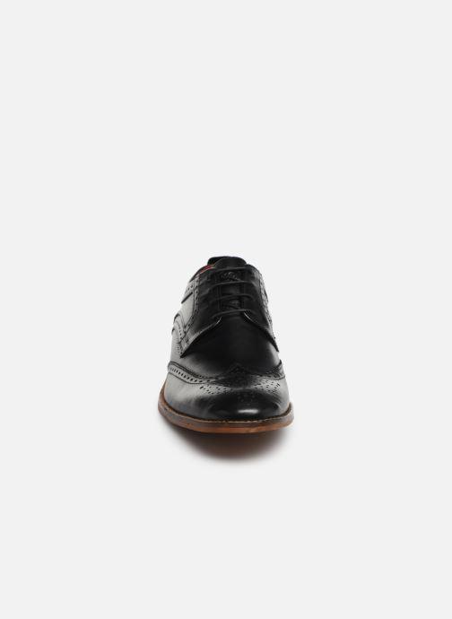 Chaussures à lacets Base London MOTIF Noir vue portées chaussures