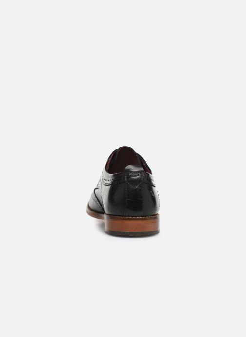 Chaussures à lacets Base London MOTIF Noir vue droite