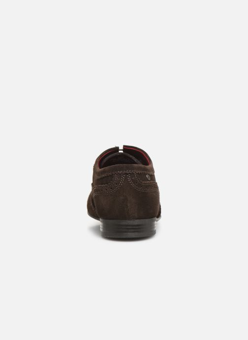 Lace-up shoes Base London PURCELL Brown view from the right