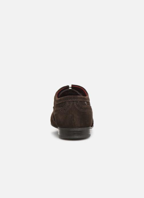 Zapatos con cordones Base London PURCELL Marrón vista lateral derecha