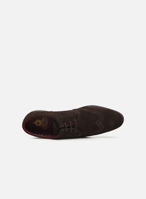 Zapatos con cordones Base London PURCELL Marrón vista lateral izquierda