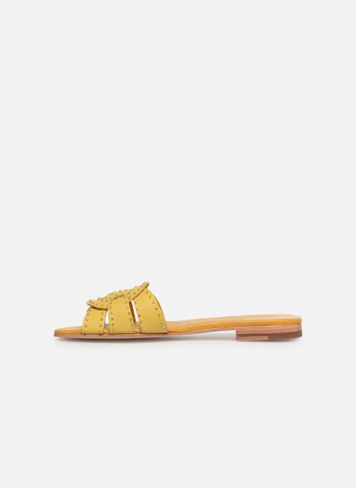 Mules & clogs Melvin & Hamilton Elodie 13 Yellow front view