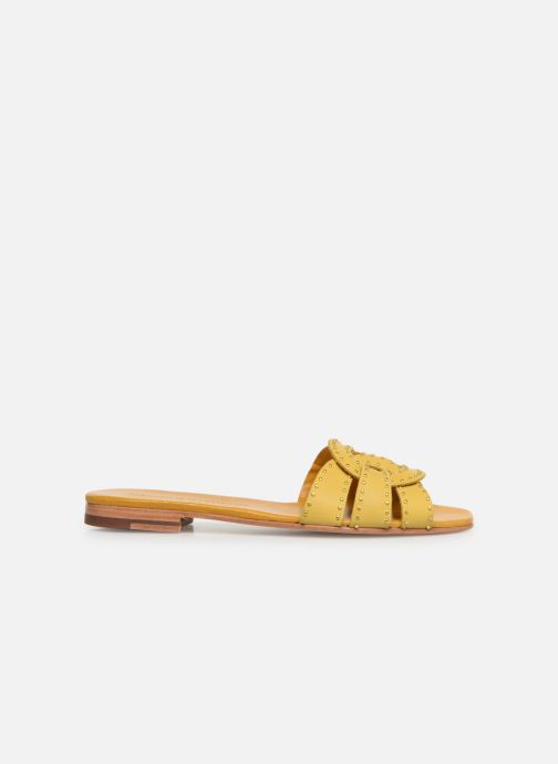 Mules & clogs Melvin & Hamilton Elodie 13 Yellow back view