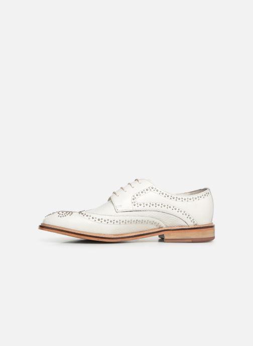 Zapatos con cordones Melvin & Hamilton Matthew 4 Blanco vista de frente