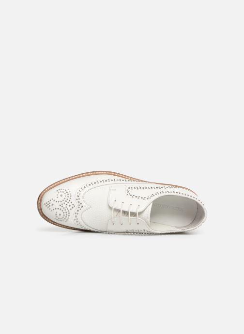 Zapatos con cordones Melvin & Hamilton Matthew 4 Blanco vista lateral izquierda