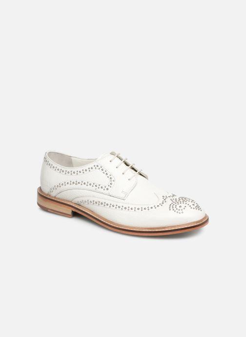 Zapatos con cordones Melvin & Hamilton Matthew 4 Blanco vista de detalle / par