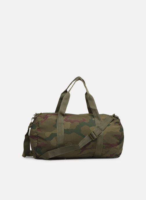 Sacs de sport Fred Perry Camouflage Barrel Bag Vert vue face