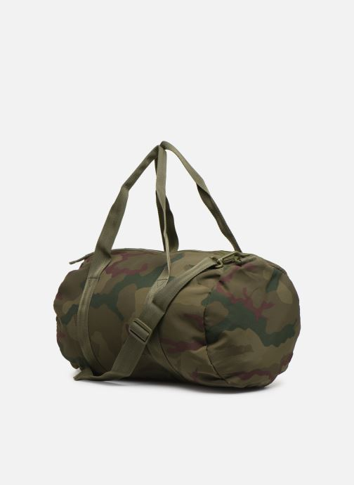 Sacs de sport Fred Perry Camouflage Barrel Bag Vert vue droite