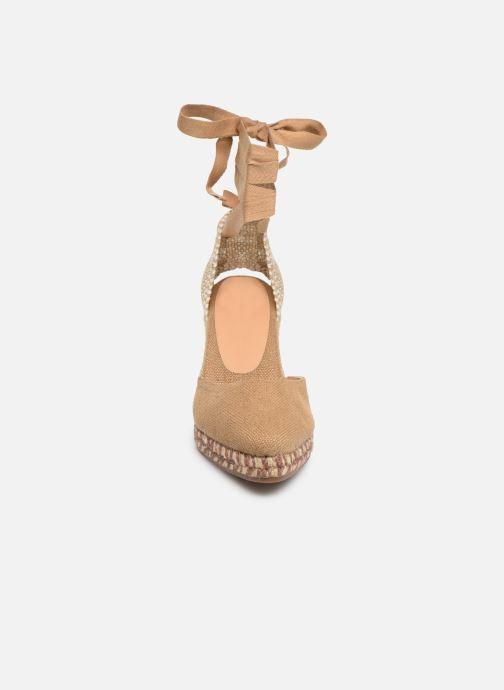 Scarpe di corda Castaner Joyce  H8 Marrone modello indossato