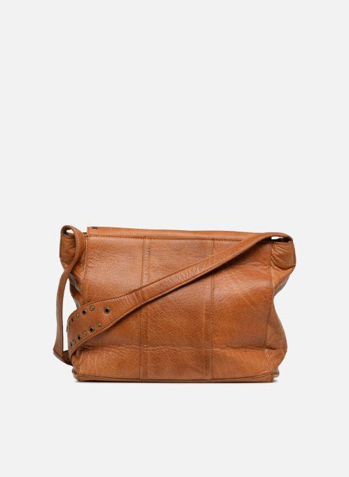 Bolsos de mano Pieces Kendra Leather Crossbody Marrón vista de frente