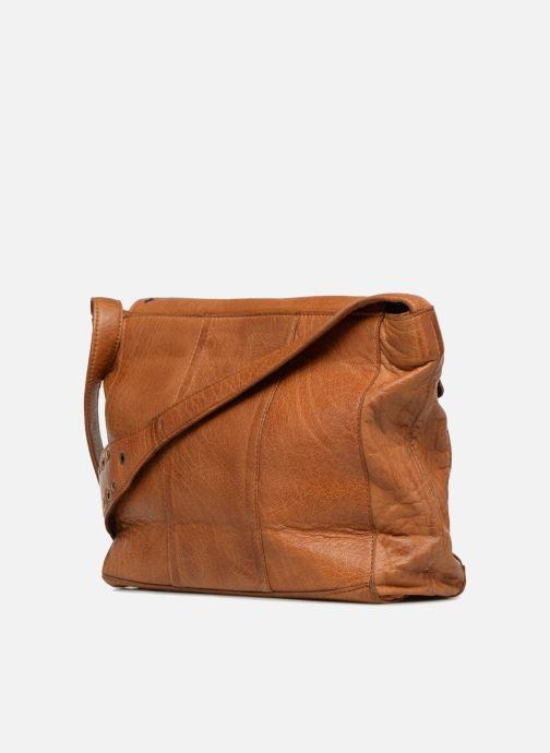 Bolsos de mano Pieces Kendra Leather Crossbody Marrón vista lateral derecha