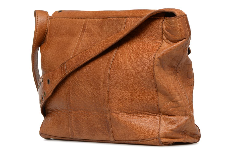 Sacs à main Pieces Kendra Leather Crossbody Marron vue droite
