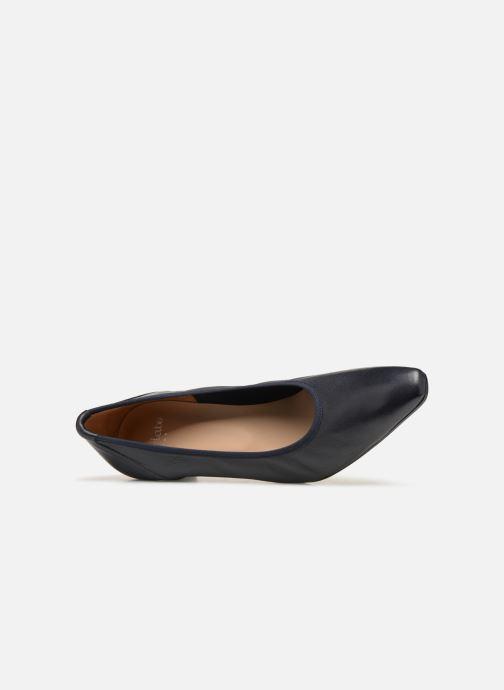 Zapatos de tacón Perlato 10367 Azul vista lateral izquierda