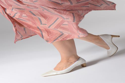 Zapatos de tacón Perlato 10367 Blanco vista de abajo
