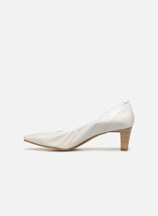 High heels Perlato 10367 White front view