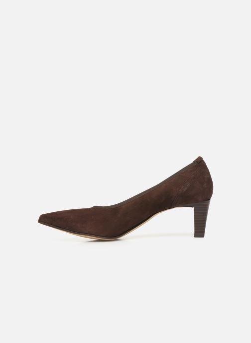 High heels Perlato 10367 Brown front view