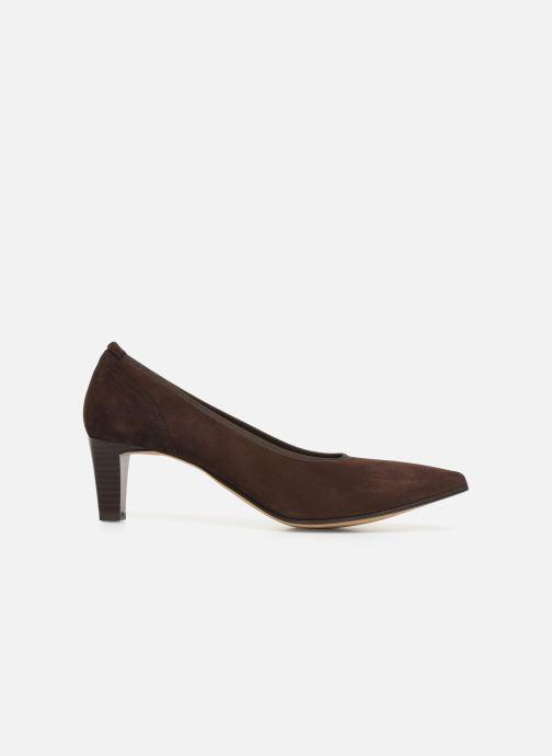 High heels Perlato 10367 Brown back view