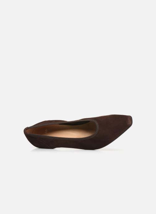 High heels Perlato 10367 Brown view from the left